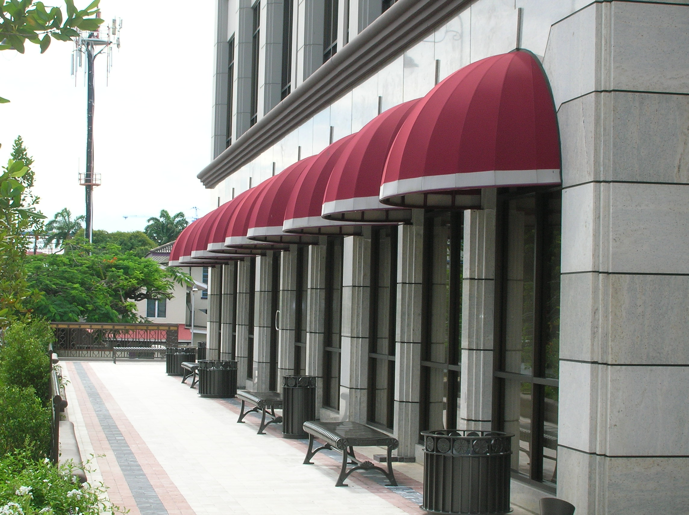 Dome Awning - Briar Place Trinidad & Fixed Awnings u0026 Canopies | Calypso Fabric Architecture